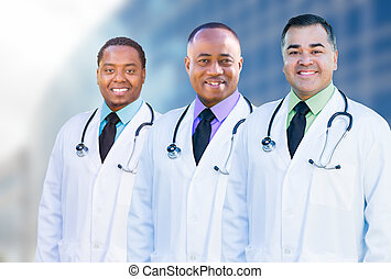 African American and Hispanic Male Doctors Outside of...