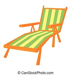 Recliner icon, cartoon style - Recliner icon. Cartoon...