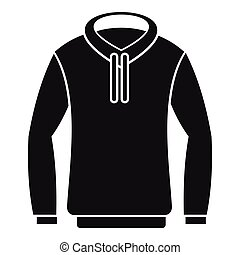 Hoody icon, simple style - Hoody icon. Simple illustration...