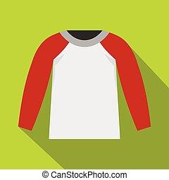 Sports jacket icon, flat style - Sports jacket icon. Flat...