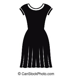 Woman dress icon, simple style