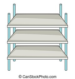 Industrial shelving icon, cartoon style - Industrial...