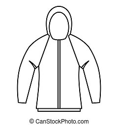 Sweatshirt icon, outline style - Sweatshirt icon. Outline...