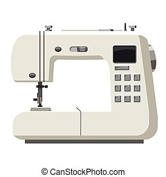 Sewing machine icon, cartoon style - Sewing machine icon....