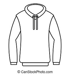 Hoody icon, outline style - Hoody icon. Outline illustration...