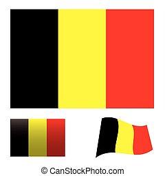 Belgium flag set