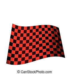 red checkered flag - racing inspired red and black checkered...