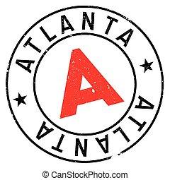 Atlanta stamp rubber grunge - Atlanta stamp. Grunge design...