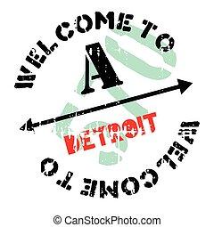 Detroit stamp rubber grunge - Detroit stamp. Grunge design...