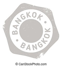 Bangkok stamp rubber grunge - Bangkok stamp. Grunge design...