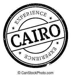 Cairo stamp rubber grunge - Cairo stamp. Grunge design with...