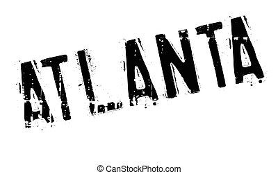 Atlanta stamp rubber grunge - Atlanta stamp. Grunge design...