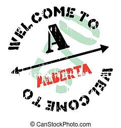 Alberta stamp rubber grunge - Alberta stamp. Grunge design...
