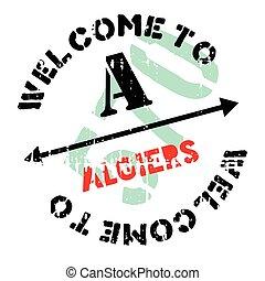 Algiers stamp rubber grunge - Algiers stamp. Grunge design...