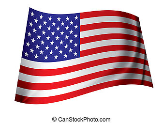 United states of america flag - red white and blue american...