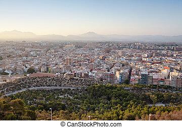 View from the Castle Santa Barbara, Alicante