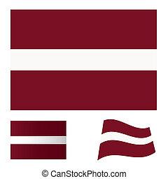 Latvia flag set