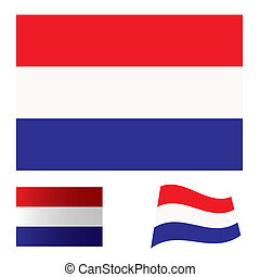 Netherlands flag set