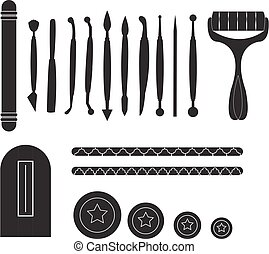 Modelling Tools for Icing & Decorating Sugarpaste, Marzipan,...