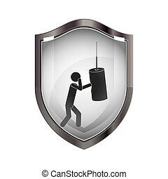 Pictogram practice boxing design