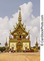 Lanna chapel with sky in wat sang kaew bo dhi yan, Chiang...
