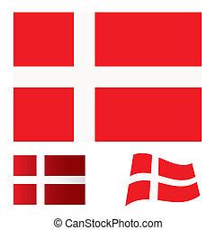 Denmark flag set