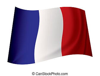 france flag - french flag icon with tricolour red white and...