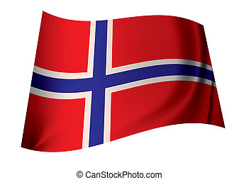 Norway flag - flag of norway ideal norwegian icon in red...