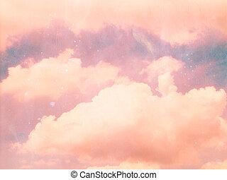 vintage cloud on sky background with vintage filter instagram effect