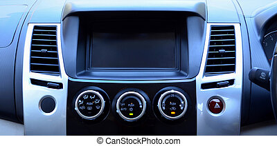 Air conditioner control panel in modern car