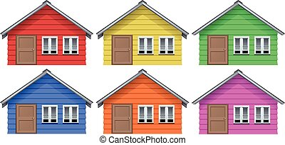 Little house in six colors