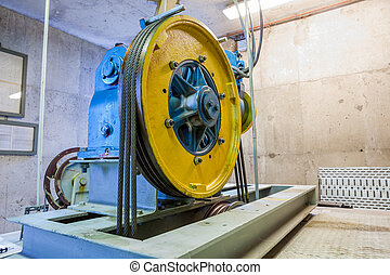 motor of the elevator