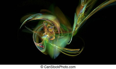 Colorful figure abstract loop motion background - Colorful...