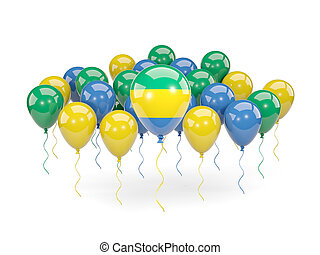 Flag of gabon with balloons - Flag of gabon, with balloons...