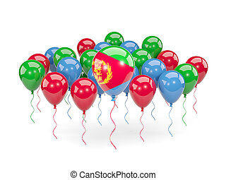 Flag of eritrea with balloons - Flag of eritrea, with...