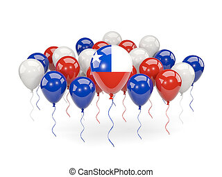 Flag of chile with balloons - Flag of chile, with balloons...