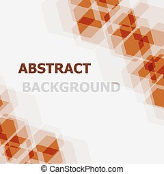 Abstract orange hexagon overlapping background