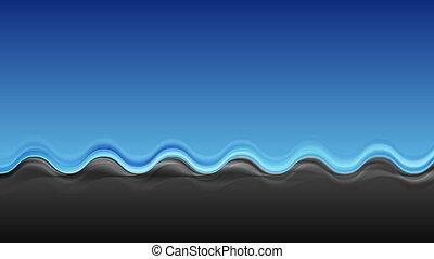 Abstract contrast blue black wavy video clip. Bright motion...