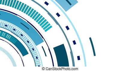Tech blue HUD gear video animation - Tech blue HUD gear...