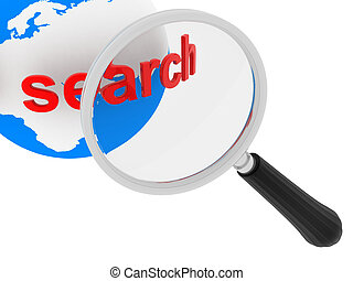 Global search concept isolated on white background