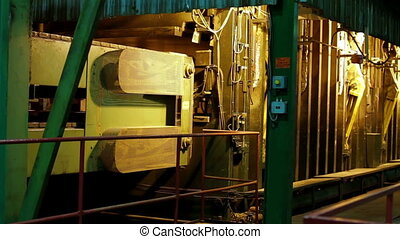 Old Automatic Machine Production of chipboard - furniture...