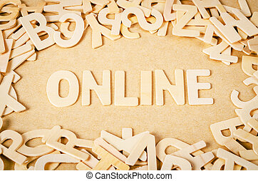 Online word made by letter pieces.