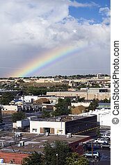 Rainbow in Albuquerque - Rainbow in industrial area of...