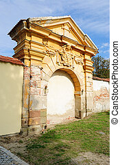 Classic Architecture - Classical archway in a medieval wall