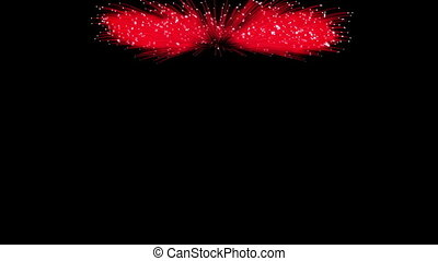 Spectacular Fireworks show, red linear fireworks, multiple lines Full HD Ver. 9