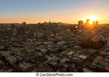 downtoen of San Francisco - Amazing cityscape of San...