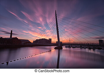 Early morning on the River Tawe - Sunrise at the River Tawe...