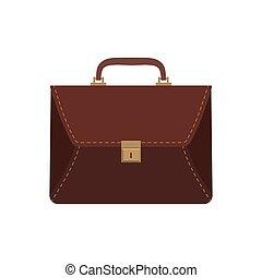 brown business briefcase,