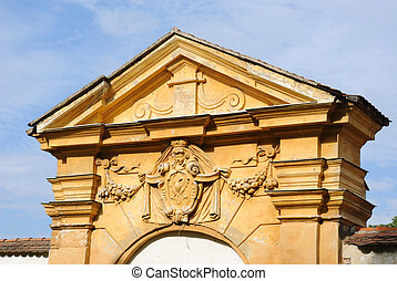 Classic Architecture - Classical archway in a medieval wall.