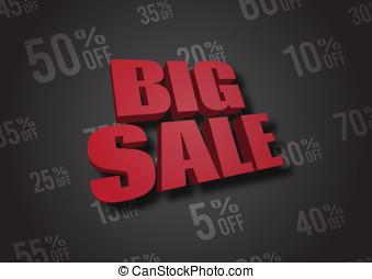 Big Sale 3D illustration